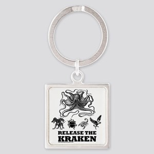 kraken and mythological beasts Square Keychain