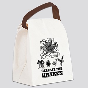 kraken and mythological beasts Canvas Lunch Bag