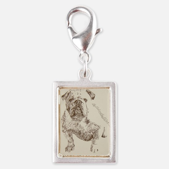 English_Bulldog_Kline Silver Portrait Charm