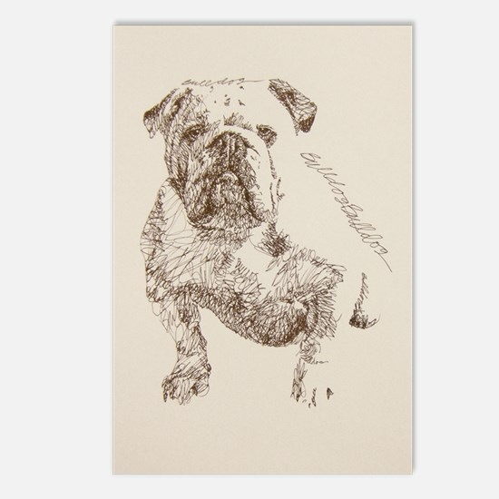 English_Bulldog_Kline Postcards (Package of 8)