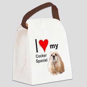 Ilovemycockerspanielcreme3 Canvas Lunch Bag