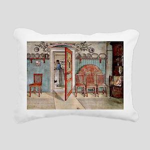 Carl Larsson painting: O Rectangular Canvas Pillow