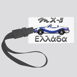 Flag-greece-front Large Luggage Tag