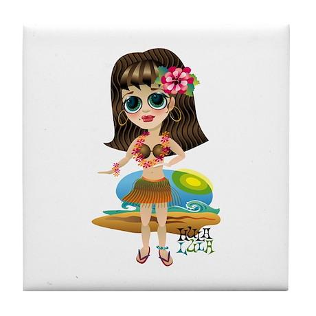 HULA LULA Tiki Princess Tile Coaster
