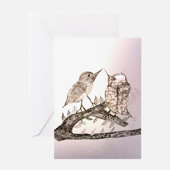TomerTal two birds Greeting Card