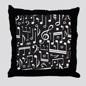 Music Lover Musical Symbols Throw Pillow
