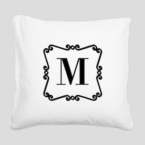 Custom Monogram Square Canvas Pillow