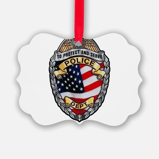 Police To Protect and Serve Ornament