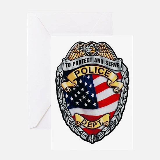 Police To Protect and Serve Greeting Cards