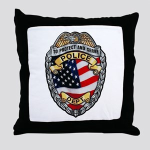 Police To Protect and Serve Throw Pillow