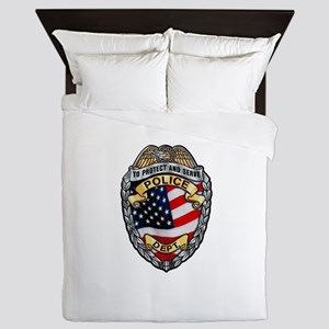 Police To Protect and Serve Queen Duvet