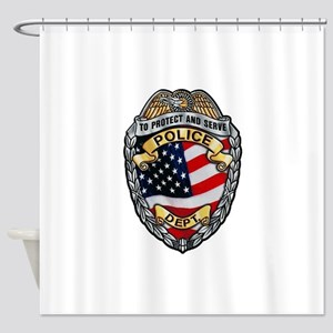 Police To Protect and Serve Shower Curtain