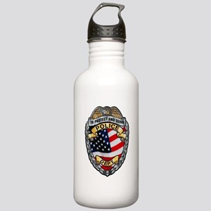 Police To Protect and Serve Water Bottle