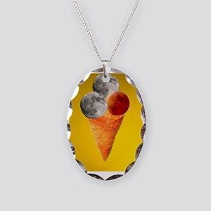 icecream of worlds Necklace Oval Charm