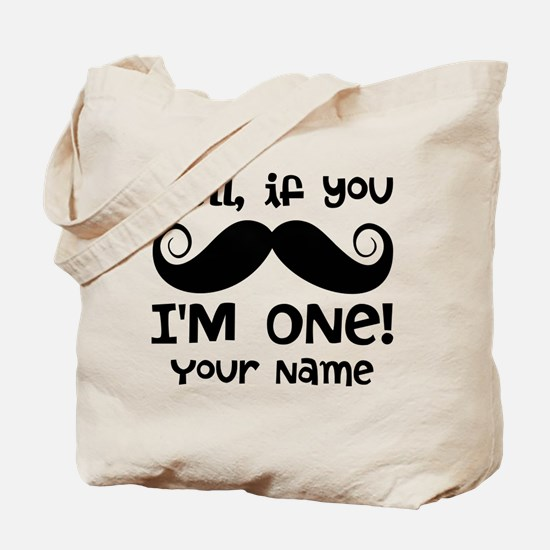 1st Birthday Mustache Personalized Tote Bag