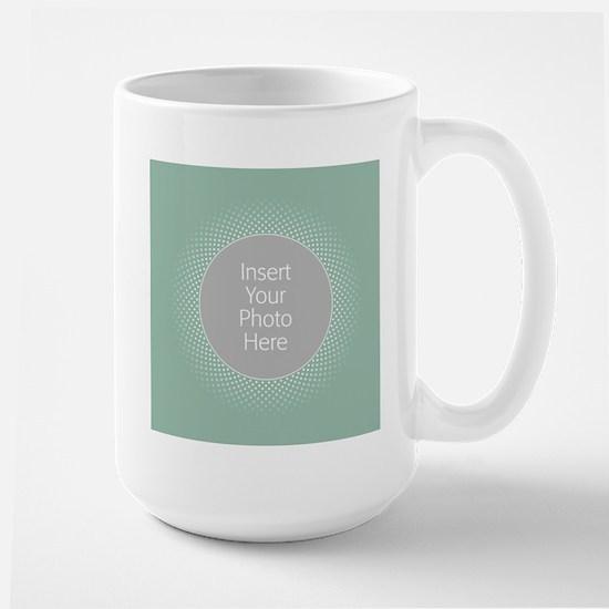 Custom Polka Dots Mint Mugs