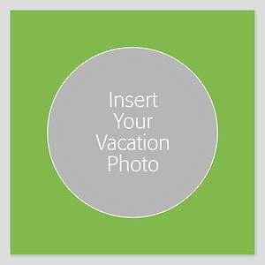 Green Photo Border Invitations