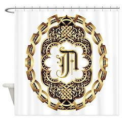 Monogram A Shower Curtain