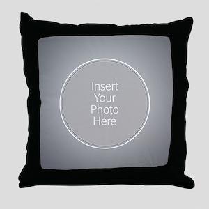Gray Wedding Border Throw Pillow