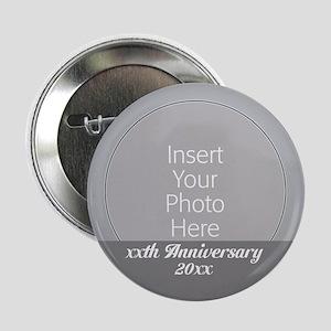 """Anniversary Silver 2.25"""" Button"""