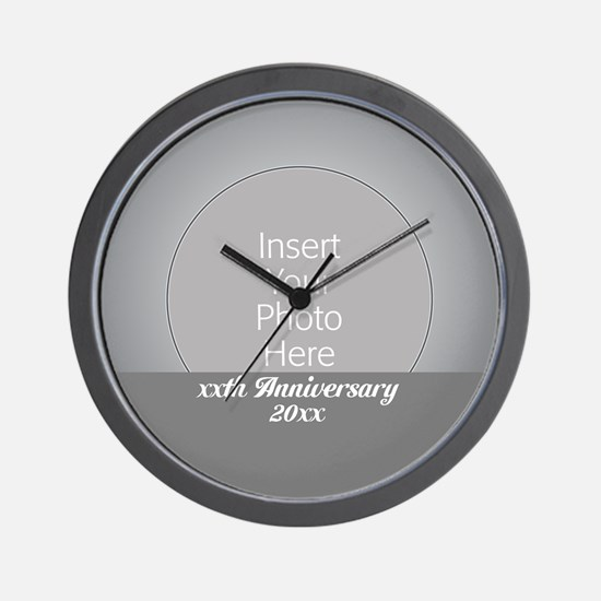 Anniversary Silver Wall Clock