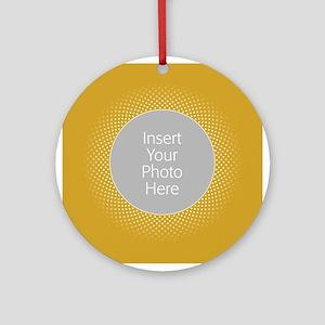 Custom Polka Dots Gold Ornament (Round)