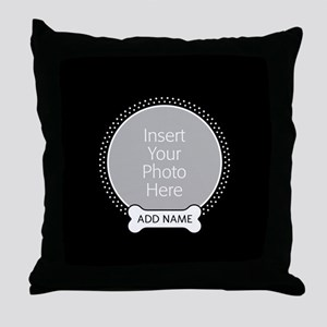 Dog Bone Pet Photo Throw Pillow