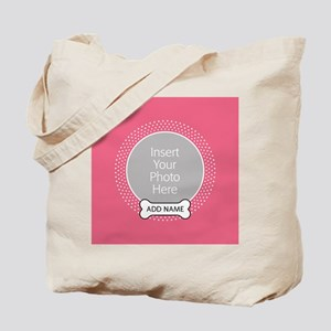 Dog Bone Pet Photo Pink Tote Bag