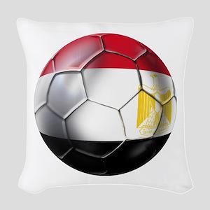 Egypt Soccer Ball Woven Throw Pillow