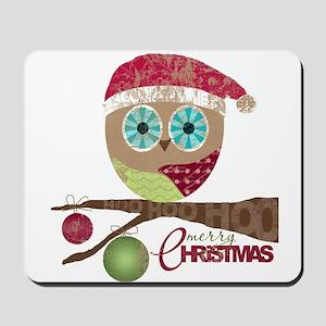 Hoo, Hoo, Hoo, Merry Christmas Mousepad