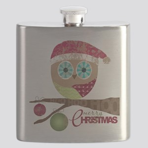 Hoo, Hoo, Hoo, Merry Christmas Flask