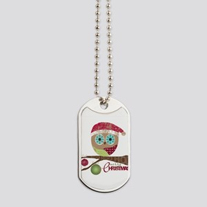 Hoo, Hoo, Hoo, Merry Christmas Dog Tags