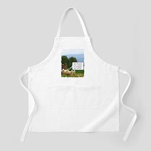 Drop Stitch Sheep Apron