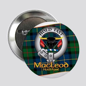 """MacLeod Clan 2.25"""" Button"""