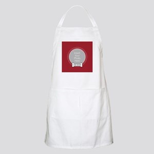 Dog Bone Pet Photo Red Apron