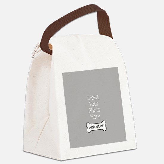 Dog Bone Pet Canvas Lunch Bag