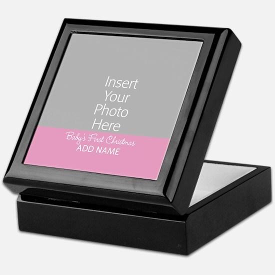 1st Christmas Girl Pink Keepsake Box