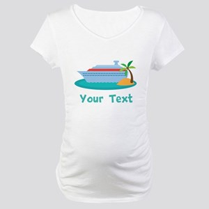 Personalized Cruise Ship Maternity T-Shirt