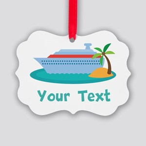 Personalized Cruise Ship Picture Ornament