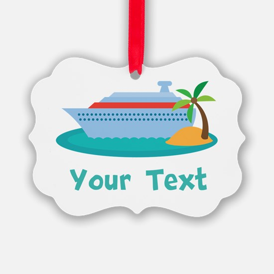 Personalized Cruise Ship Picture Ornament