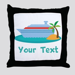 Personalized Cruise Ship Throw Pillow