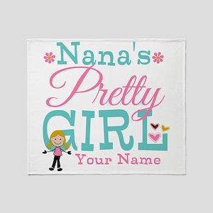 Personalized Nana's Pretty Girl Throw Blanket