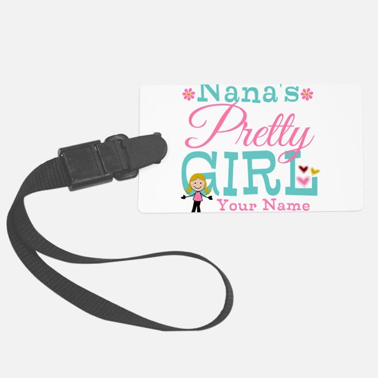 Personalized Nana's Pretty Girl Luggage Tag