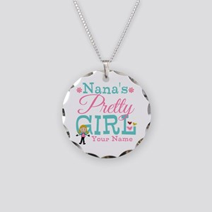 Personalized Nana's Pretty Girl Necklace Circle Ch