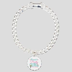 Personalized Nana's Pretty Girl Charm Bracelet, On