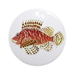 Red Lionfish Ornament (Round)