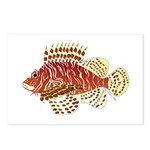 Red Lionfish Postcards (Package of 8)
