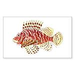 Red Lionfish Sticker
