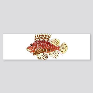 Red Lionfish Bumper Sticker