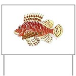 Red Lionfish Yard Sign